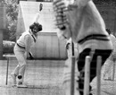 Asif Masood bowls in the nets, Lord's, June 12, 1974