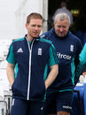 Eoin Morgan and Paul Farbrace head for the indoor nets, Trent Bridge, June 20, 2016