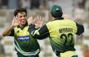 Mansoor Amjad celebrates his only wicket, Pakistan v Sri Lanka, Super Four, Asia Cup, Karachi, June 29, 2008