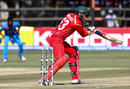 Peter Moor's 32-ball 31 was the top score for Zimbabwe in their innings, Zimbabwe v India, 2nd T20I, Harare, June 20, 2016