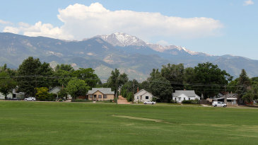 Memorial Park currently has the the only cricket field in Colorado Springs