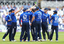 England celebrate Moeen Ali's breakthrough, England v Sri Lanka, 1st ODI, Trent Bridge, June 21, 2016