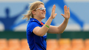 High-five time for Heather Knight