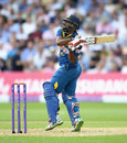 Seekkuge Prasanna pulls a six over fine leg, England v Sri Lanka, 1st ODI, Trent Bridge, June 21, 2016
