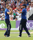 David Willey and Liam Plunkett combined for a run-out, England v Sri Lanka, 1st ODI, Trent Bridge, June 21, 2016