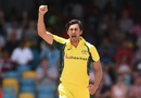 Mitchell Starc unleashed a fiery first spell, West Indies v Australia, 8th match, ODI tri-series, Barbados