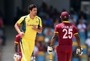 Mitchell Starc had Johnson Charles edging behind for a duck, West Indies v Australia, 8th match, ODI tri-series, Barbados