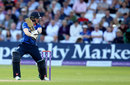 Eoin Morgan cuts during his 49-ball 43, England v Sri Lanka, 1st ODI, Trent Bridge, June 21, 2016