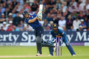 Jos Buttler drives into the leg side, England v Sri Lanka, 1st ODI, Trent Bridge, June 21, 2016