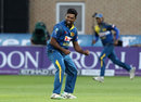 Seekkuge Prasanna took the key wicket of Jos Buttler, England v Sri Lanka, 1st ODI, Trent Bridge, June 21, 2016