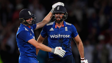 Liam Plunkett's last-ball six salvaged a dramatic tie