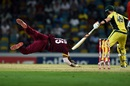 Kieron Pollard dishes out a dive, West Indies v Australia, 8th match, ODI tri-series, Barbados