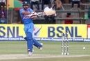 Kedar Jadhav pulls en route to his 58, Zimbabwe v India, 3rd T20I, Harare, June 22, 2016