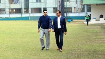 Minhajul Abedin (left) along with Habibul Bashar
