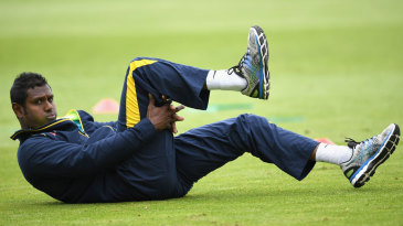 Angelo Mathews underwent a fitness test on his hamstring
