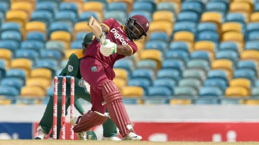 Darren Bravo swings down the ground