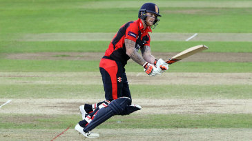 Ben Stokes was dismissed for 5 on his comeback from injury