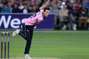 Nathan Sowter plies his legspin for Middlesex, Kent v Middlesex, NatWest Blast, Canterbury, June 24, 2016