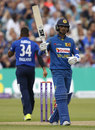Dinesh Chandimal made his second fifty of the series, England v Sri Lanka, 3rd ODI, Bristol, June 26, 2016