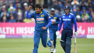 Suranga Lakmal removed Alex Hales for a golden duck