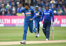 Suranga Lakmal removed Alex Hales for a golden duck, England v Sri Lanka, 3rd ODI, Bristol, June 26, 2016