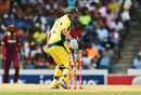 George Bailey was bowled off the inside edge,  West Indies v Australia, ODI tri-series final, Barbados, June 26, 2016