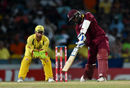 Denesh Ramdin drills the ball through the off side, West Indies v Australia, ODI tri-series final, Barbados, June 26, 2016