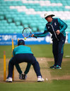 Anyone for tennis? Trevor Bayliss works with Jos Buttler, Kia Oval, June 28, 2016