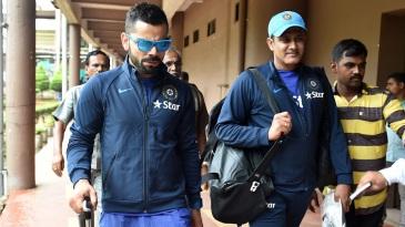Virat Kohli and Anil Kumble leave the NCA