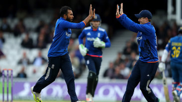 Adil Rashid struck after a lengthy rain delay