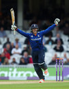 Jason Roy brought up his hundred from 74 balls, England v Sri Lanka, 4th ODI, The Oval, June 29, 2016