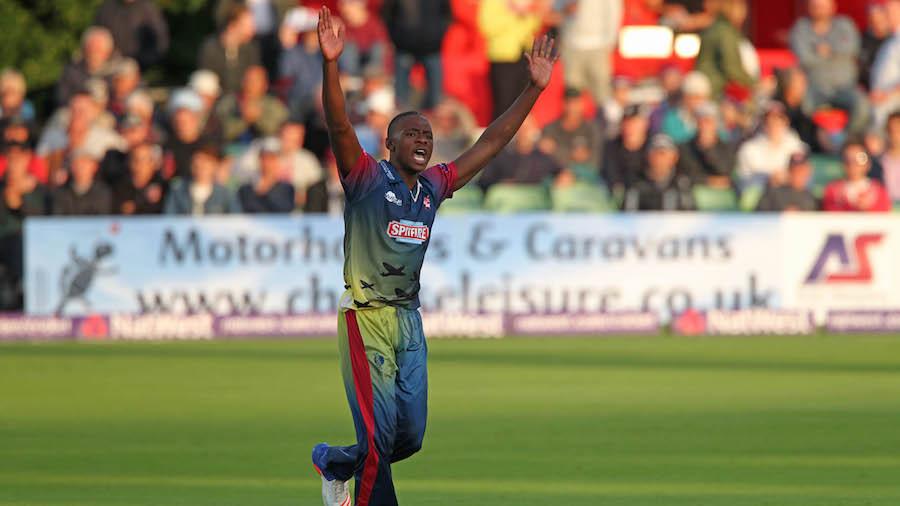 Kagiso Rabada struck twice on his Kent debut