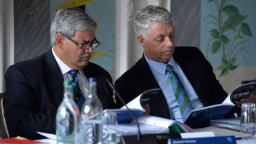 ICC chairman Shashank Manohar and chief executive David Richardson read on