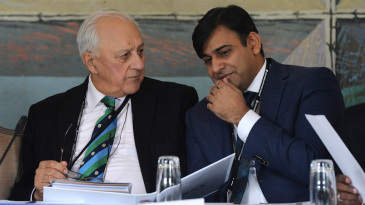 PCB's Shaharyar Khan and Subhan Ahmad attend the ICC meeting