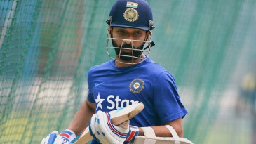 Ajinkya Rahane trains at the NCA