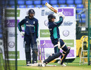 James Vince watches Joe Root in action in the nets, England v Sri Lanka, 5th ODI, Cardiff, July 1, 2016