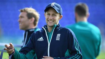 Joe Root warms up at Cardiff