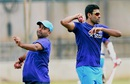 Amit Mishra and R Ashwin at the preparatory camp, Bangalore, July 1, 2016