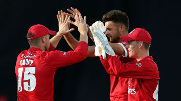 Nathan Buck claimed three wickets for Lancashire