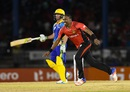 Dwayne Bravo is overjoyed after dismissing AB de Villiers, Trinbago Knight Riders v Barbados Tridents, CPL 2016, Port-of-Spain, July 1, 2016
