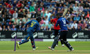 James Vince was stumped by Dinesh Chandimal for 51, England v Sri Lanka, 5th ODI, Cardiff, July 2, 2016