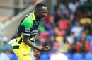 Kesrick Williams celebrates after taking a wicket, St Kitts and Nevis Patriots v Jamaica Tallawahs, CPL 2016, Basseterre, July 2, 2016