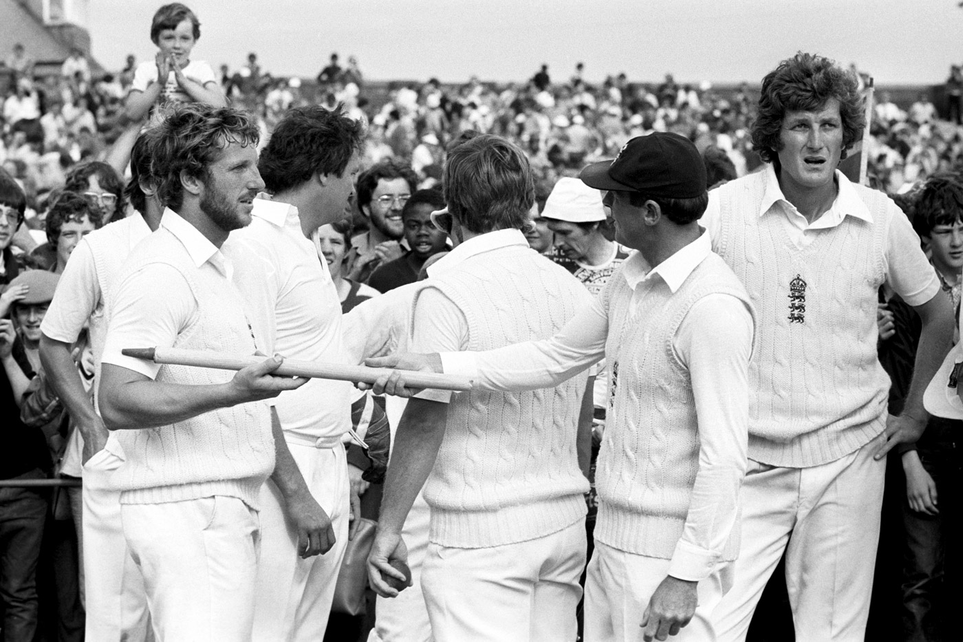 Back to work: the England players had virtually no celebrations after the famous win as several left to play domestic games the next day