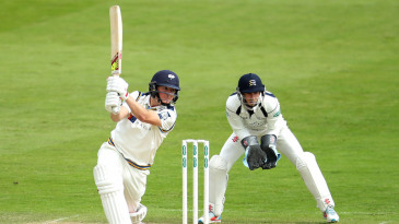 Gary Ballance drives during his century