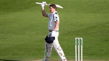 Gary Ballance reached his first hundred of the series
