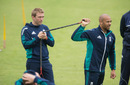 Tymal Mills does a bit of resistance training, Ageas Bowl, Southampton, July 4, 2016