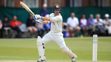 Rory Burns cuts during his half-century