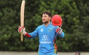 Rahmat Shah celebrates his maiden ODI ton amid rain, Scotland v Afghanistan, 1st ODI, Edinburgh, July 4, 2016