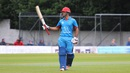 Najibullah Zadran acknowledges his half-century, Scotland v Afghanistan, 1st ODI, Edinburgh, July 4, 2016