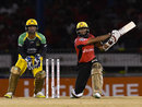 Hashim Amla works the ball away during his half-century, Trinbago Knight Riders v Jamaica Tallawahs, CPL 2016, Port of Spain, July 4, 2016